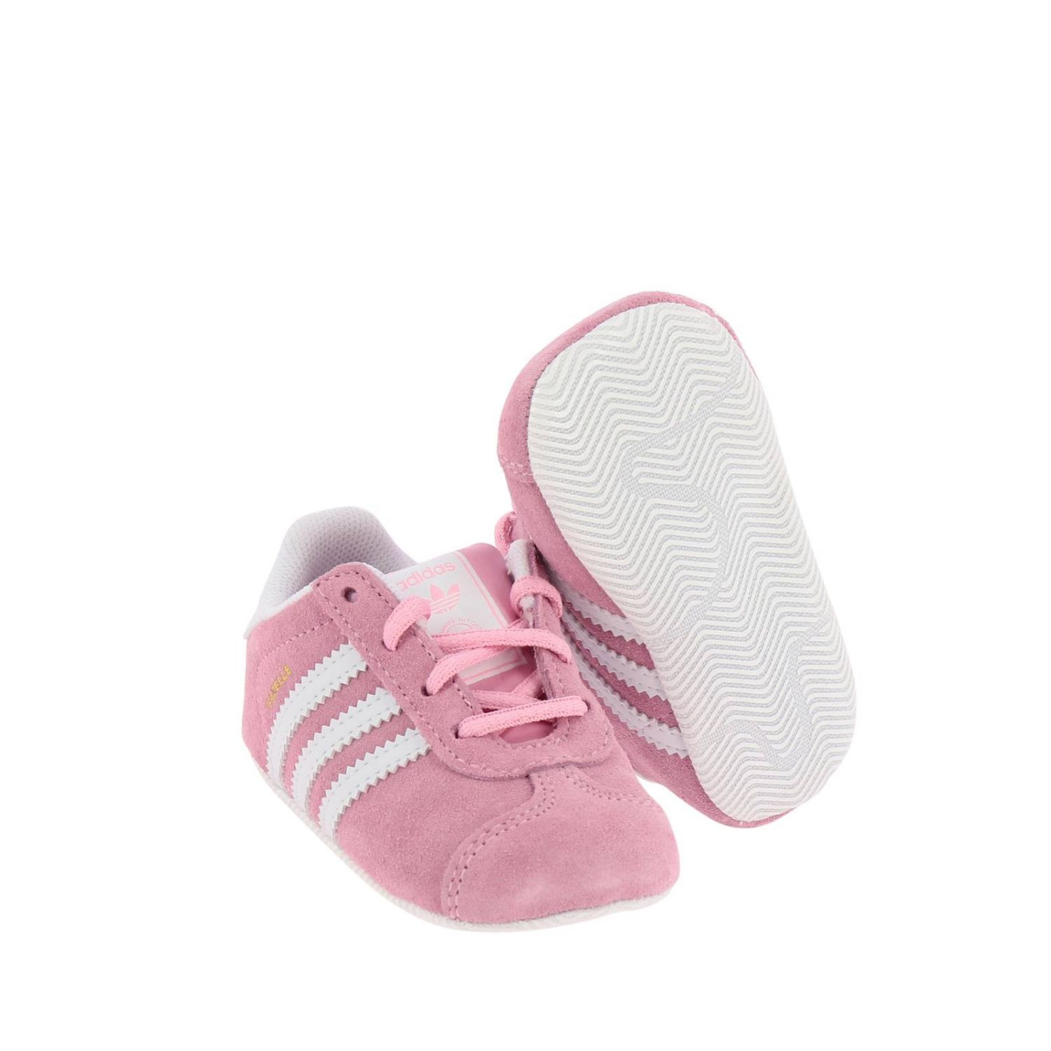 Shoes Adidas Originals: Gazelle Crib Adidas Originals Classic sneakers in suede and smooth leather pink 2