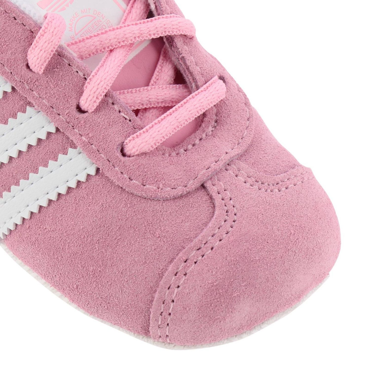 Shoes Adidas Originals: Gazelle Crib Adidas Originals Classic sneakers in suede and smooth leather pink 3