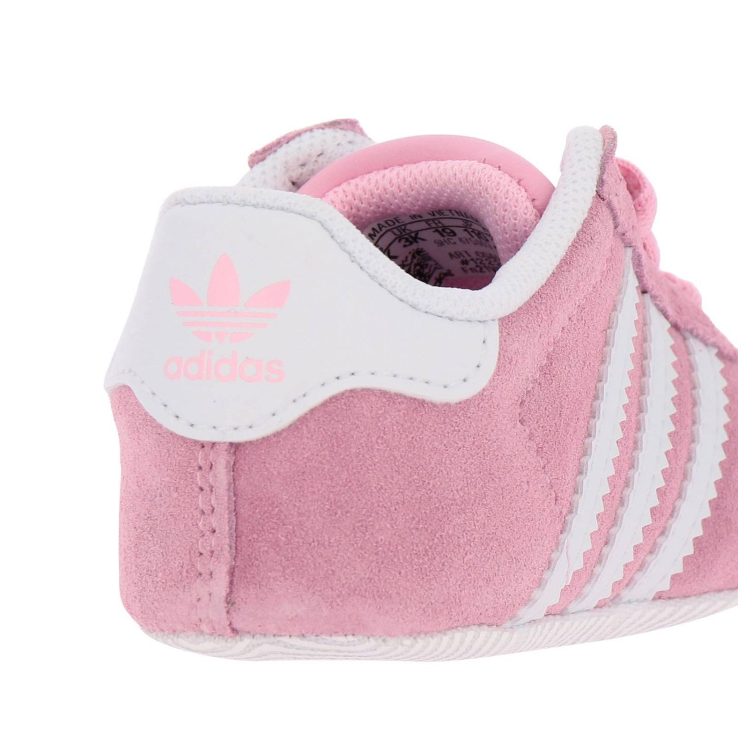 Shoes Adidas Originals: Gazelle Crib Adidas Originals Classic sneakers in suede and smooth leather pink 4
