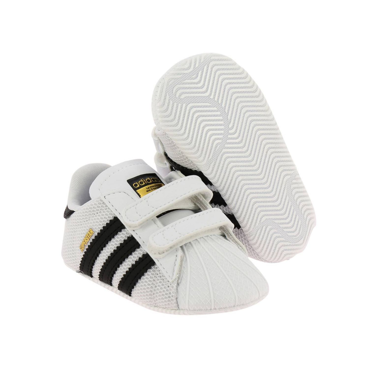 Shoes Adidas Originals: Adidas Originals Superstar sneakers in canvas and rubber white 2