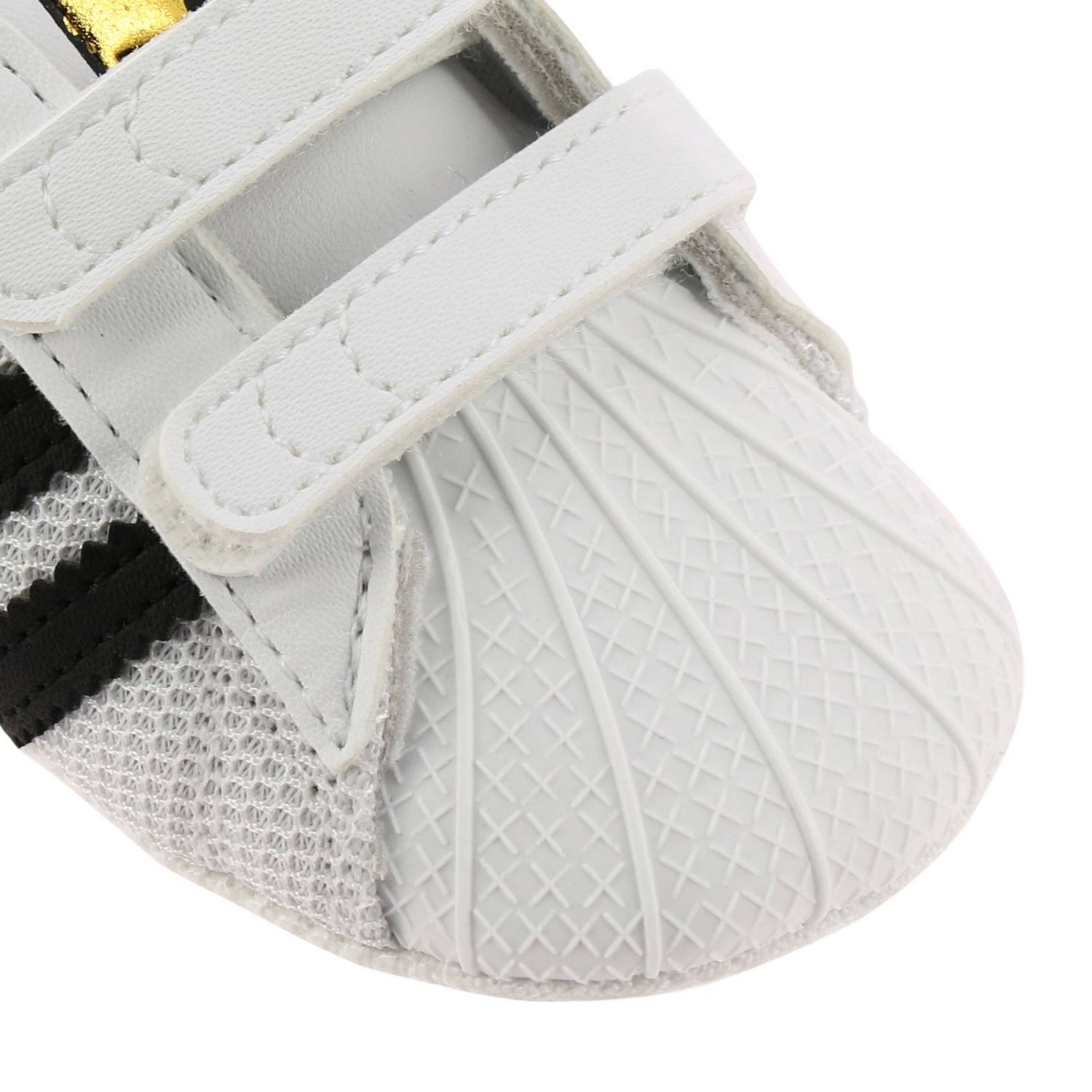 Shoes Adidas Originals: Adidas Originals Superstar sneakers in canvas and rubber white 3