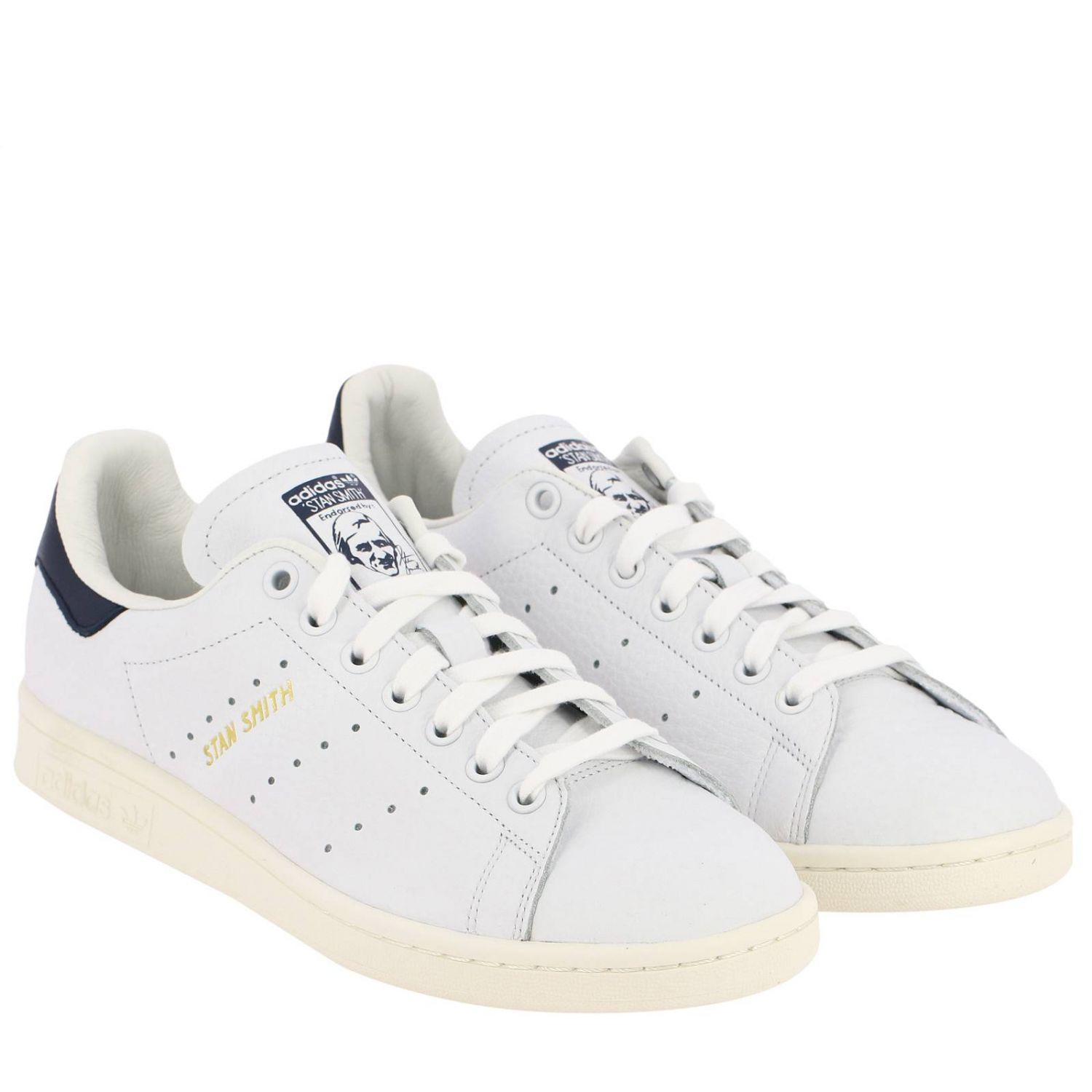 运动鞋 Adidas Originals: Adidas Originals Stan Smith 真皮运动鞋 白色 2