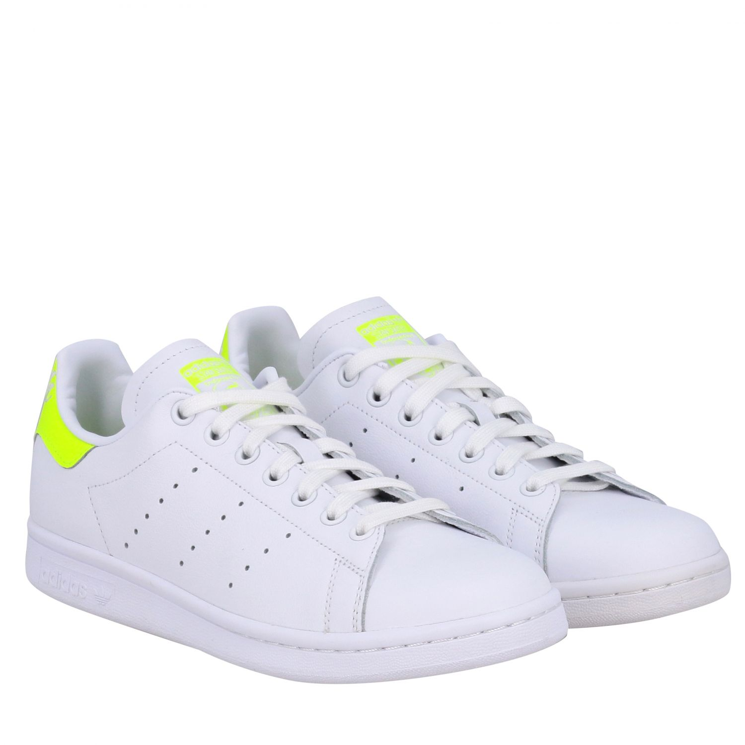 Sneakers Adidas Originals: Stan smith sneakers pelle tallone giallo ricamo bianco 2