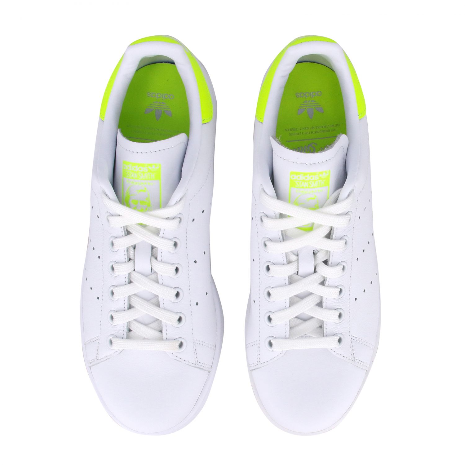 Sneakers Adidas Originals: Stan smith sneakers pelle tallone giallo ricamo bianco 3