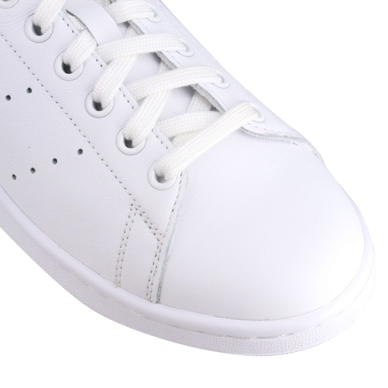 Sneakers Adidas Originals: Stan smith sneakers pelle tallone giallo ricamo bianco 4