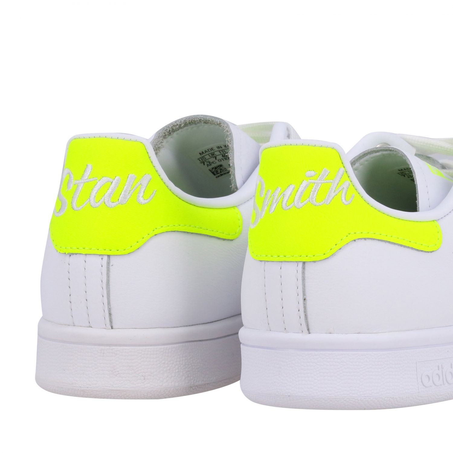 Sneakers Adidas Originals: Stan smith sneakers pelle tallone giallo ricamo bianco 5