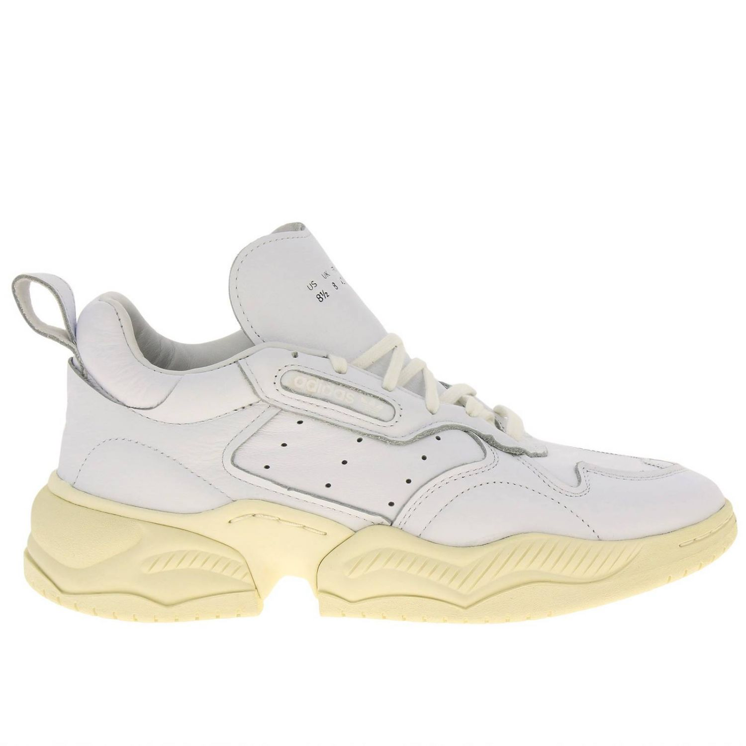 Sneakers Adidas Originals: Supercourt RX Adidas Originals sneakers in leather with holes and maxi sole white 1