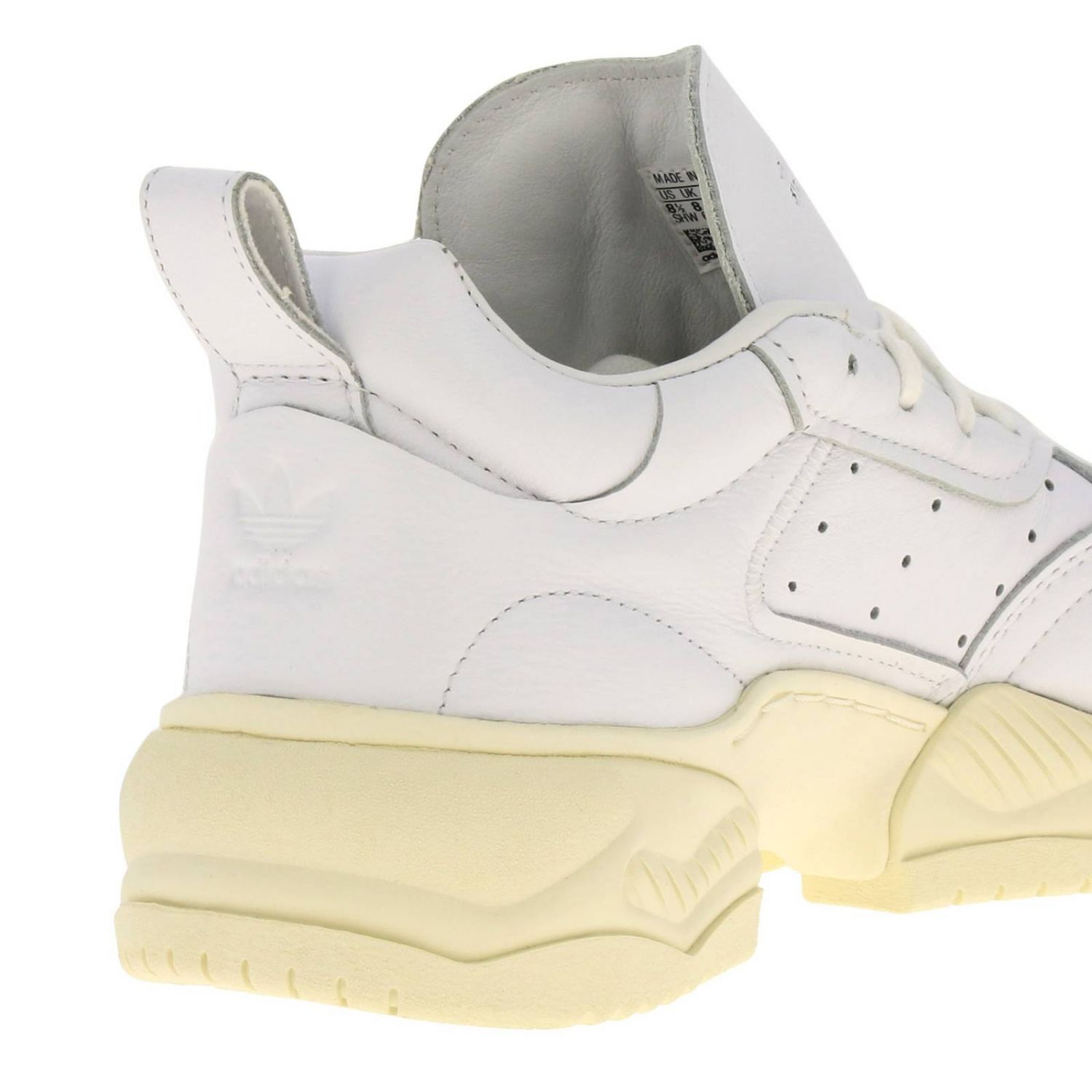 Sneakers Adidas Originals: Supercourt RX Adidas Originals sneakers in leather with holes and maxi sole white 4