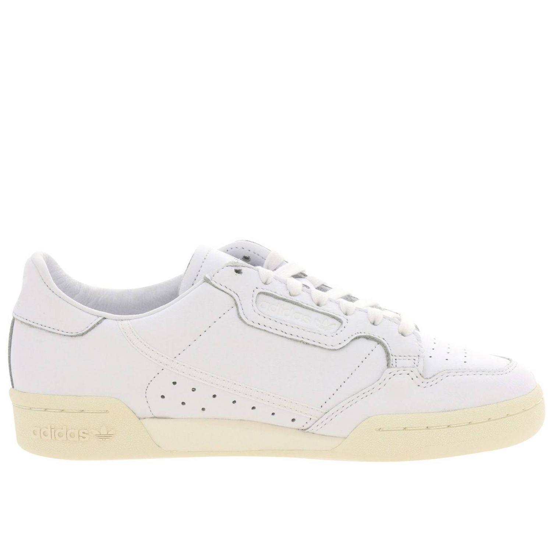 Sneakers Adidas Originals: Sneakers Continental 80 Adidas Originals in pelle liscia con fori bianco 1