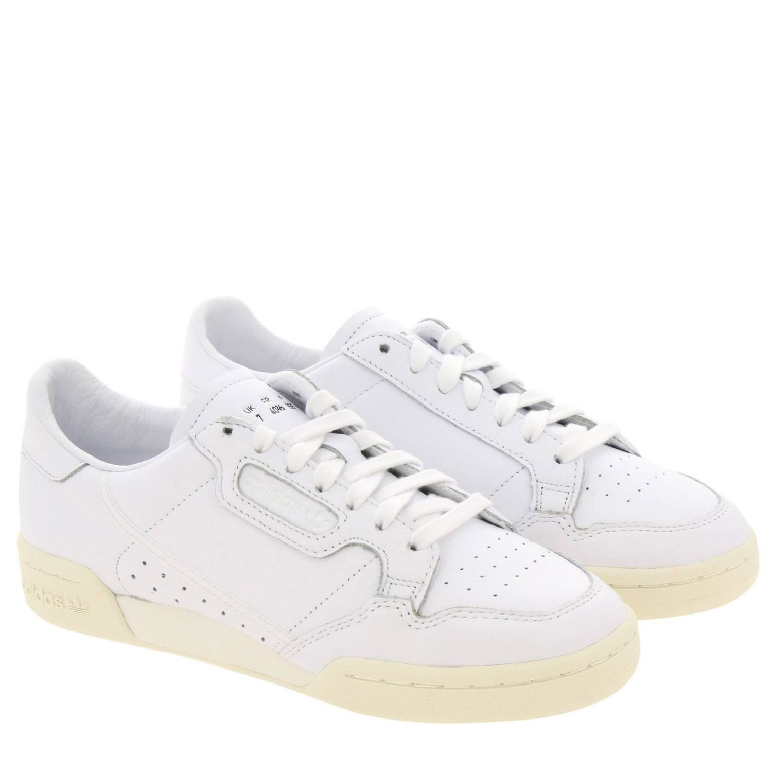 Sneakers Adidas Originals: Adidas Originals 80 Sneakers in smooth leather with holes white 2