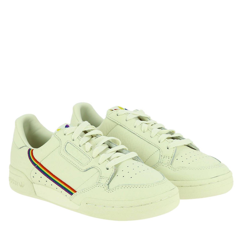 Sneakers Adidas Originals: Continental 80 Pride Adidas Originals Sneakers in leather with rainbow stripes and macro holes white 2