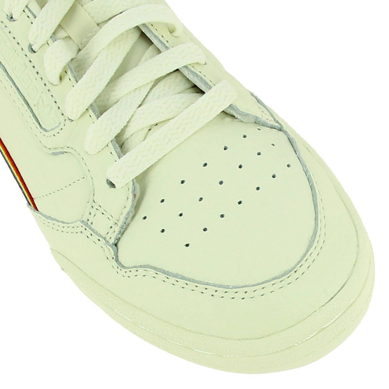 Sneakers Adidas Originals: Continental 80 Pride Adidas Originals Sneakers in leather with rainbow stripes and macro holes white 3