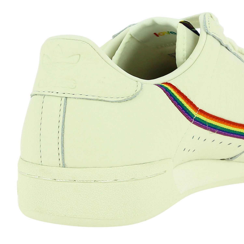 Sneakers Adidas Originals: Continental 80 Pride Adidas Originals Sneakers in leather with rainbow stripes and macro holes white 4