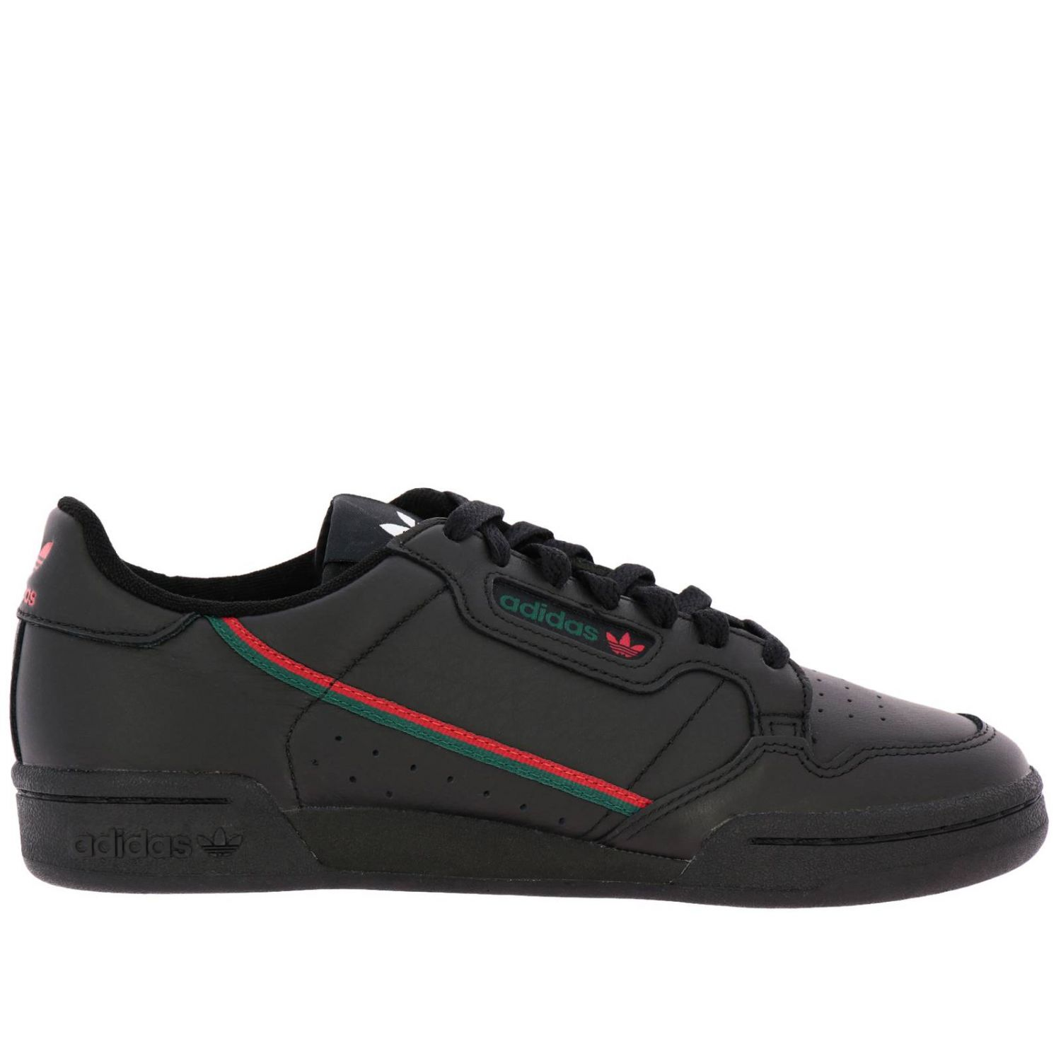 Sneakers Adidas Originals: Adidas Originals 80 Sneakers in leather with stripes black 1