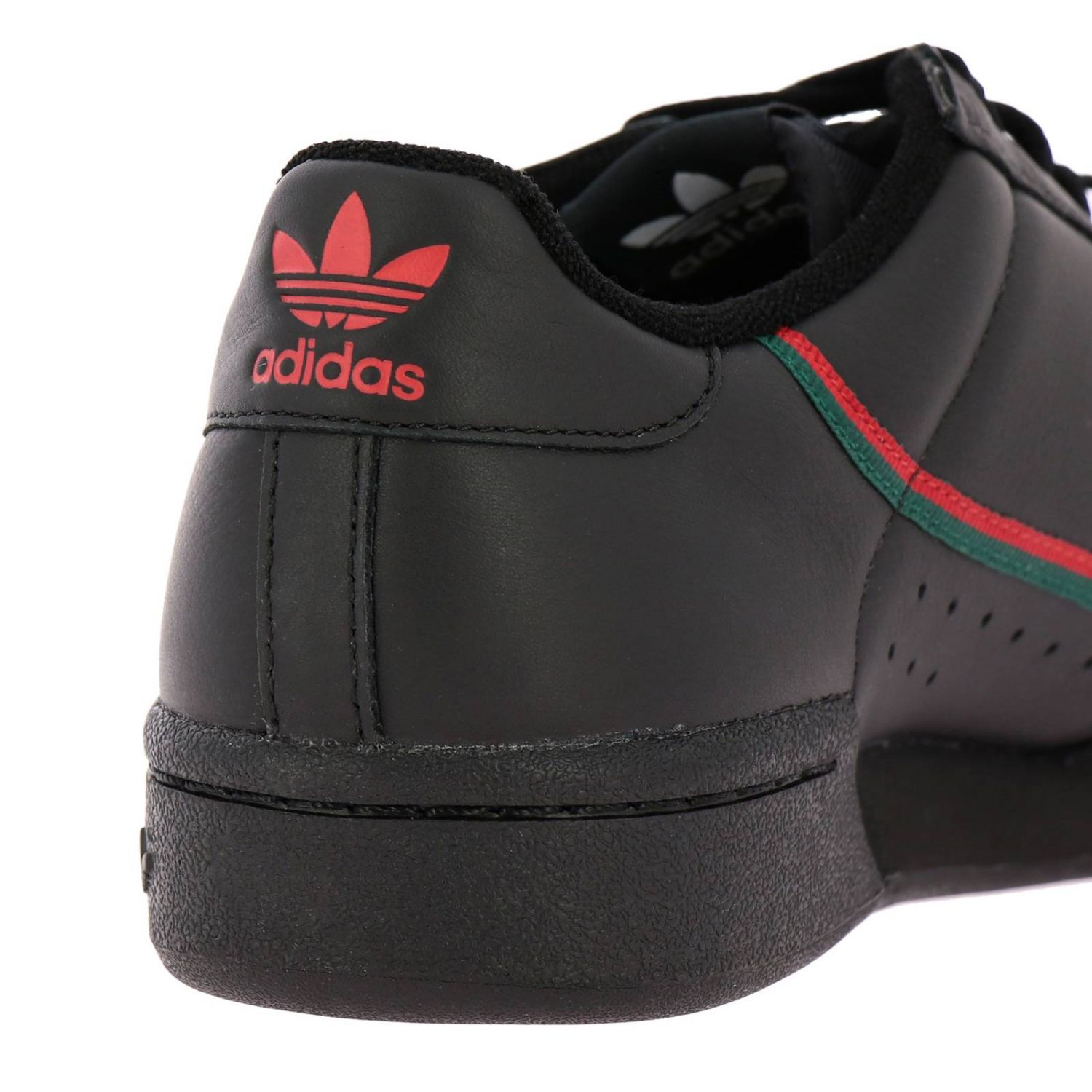 Sneakers Adidas Originals: Adidas Originals 80 Sneakers in leather with stripes black 4