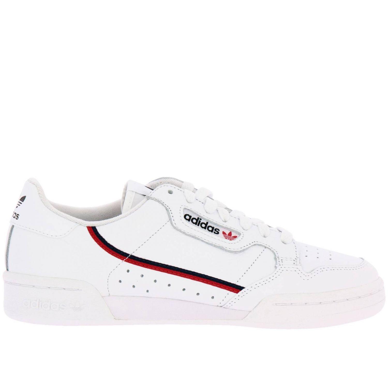 Zapatillas Adidas Originals: Zapatillas Adidas Originals 80 de cuero con rayas blanco 1