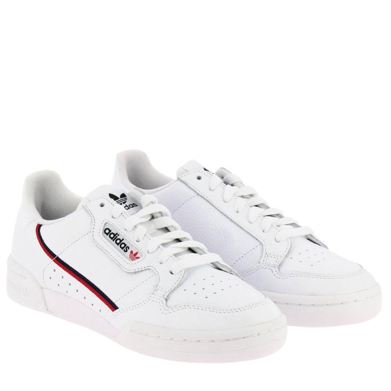 Zapatillas Adidas Originals: Zapatillas Adidas Originals 80 de cuero con rayas blanco 2