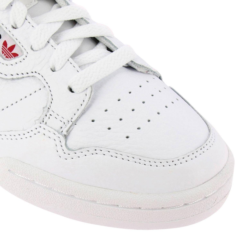 Zapatillas Adidas Originals: Zapatillas Adidas Originals 80 de cuero con rayas blanco 3