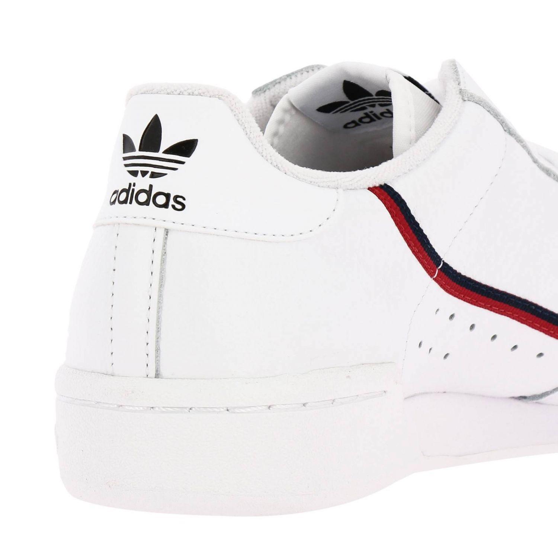 Zapatillas Adidas Originals: Zapatillas Adidas Originals 80 de cuero con rayas blanco 4