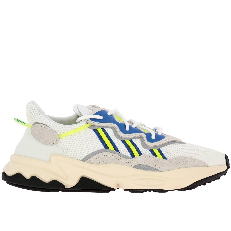 Sneakers Adidas Originals: Sneakers Ozweego Adidas Originals in mesh camoscio e gomma fluo bianco 1