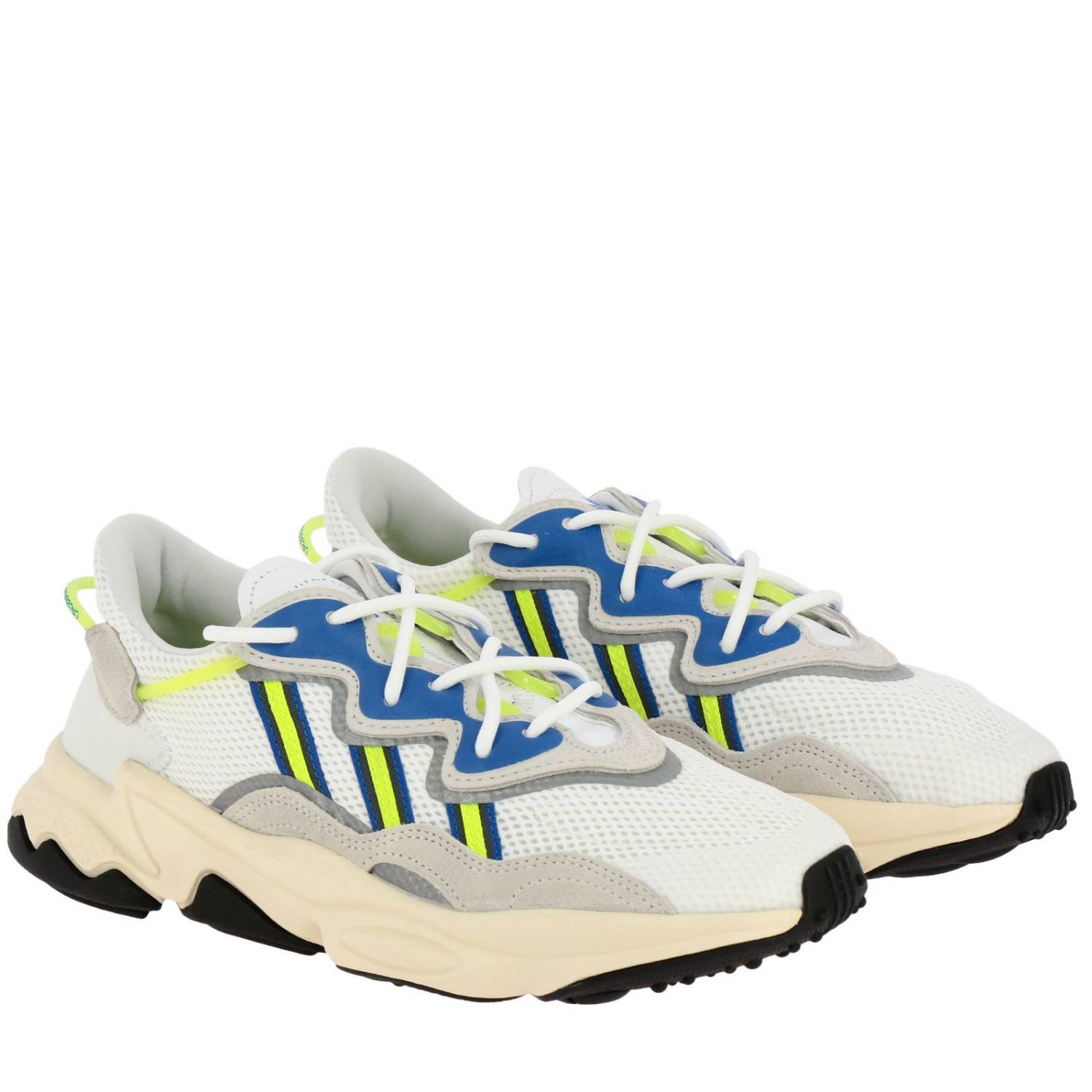 Trainers Adidas Originals: Sneakers Ozweego Adidas Originals in suede and fluo rubber white 2