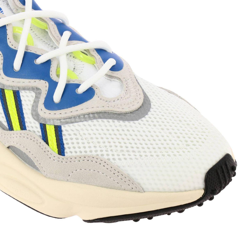 Sneakers Adidas Originals: Sneakers Ozweego Adidas Originals in mesh camoscio e gomma fluo bianco 3