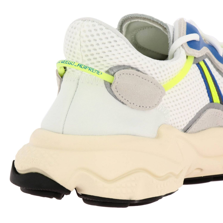 Baskets Ozweego Adidas Originals en résille daim et caoutchouc fluo blanc 4