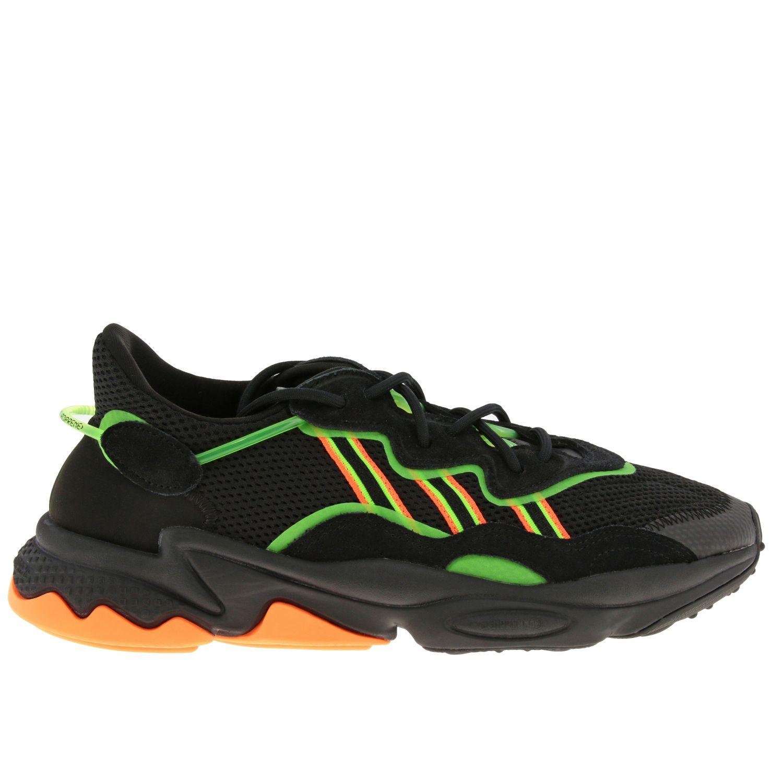 Sneakers Adidas Originals: Sneakers Ozweego Adidas Originals in mesh camoscio e gomma fluo nero 1