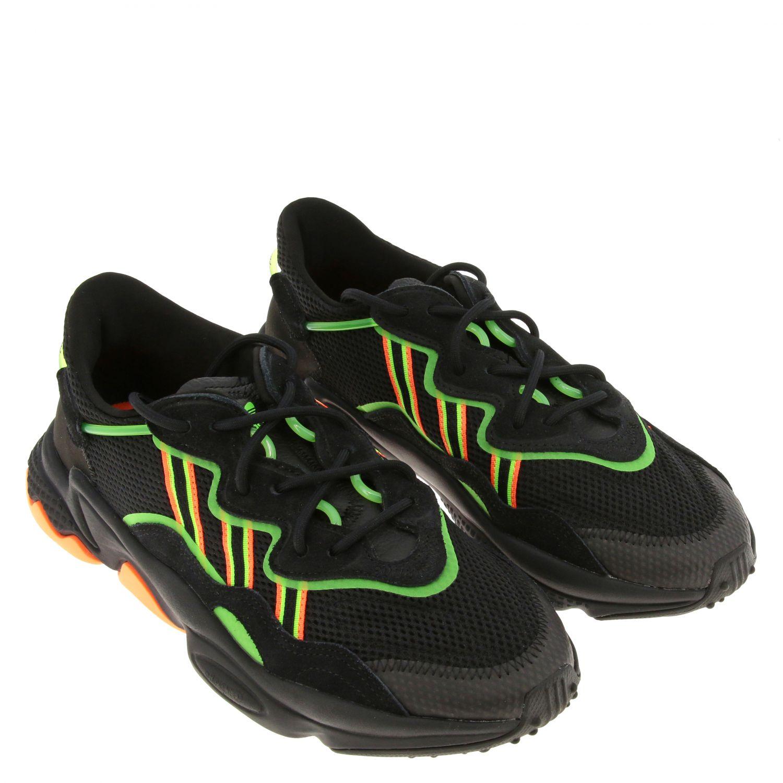 Sneakers Adidas Originals: Sneakers Ozweego Adidas Originals in mesh camoscio e gomma fluo nero 2