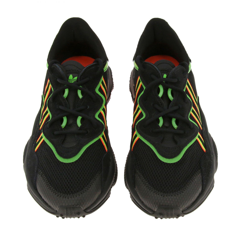 Sneakers Adidas Originals: Sneakers Ozweego Adidas Originals in mesh camoscio e gomma fluo nero 3