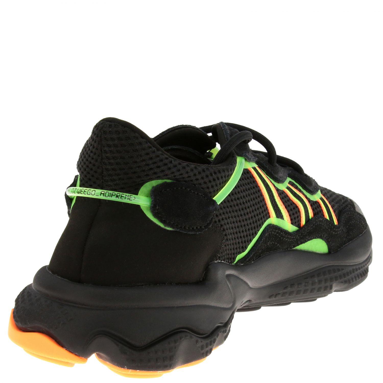 Sneakers Adidas Originals: Sneakers Ozweego Adidas Originals in mesh camoscio e gomma fluo nero 5