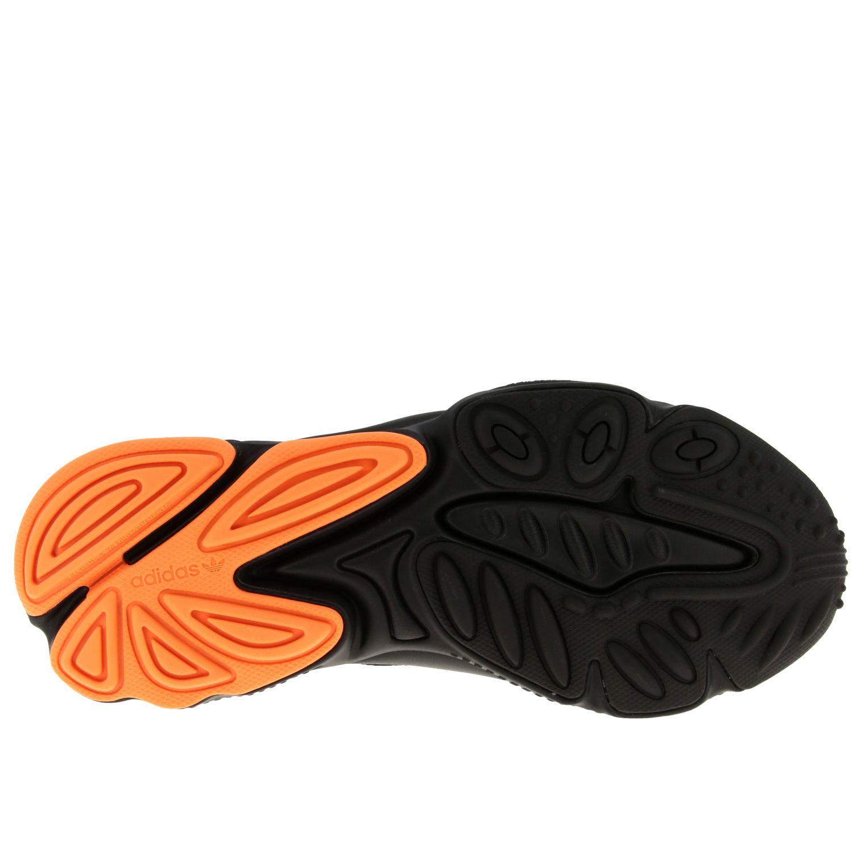Sneakers Adidas Originals: Sneakers Ozweego Adidas Originals in mesh camoscio e gomma fluo nero 6