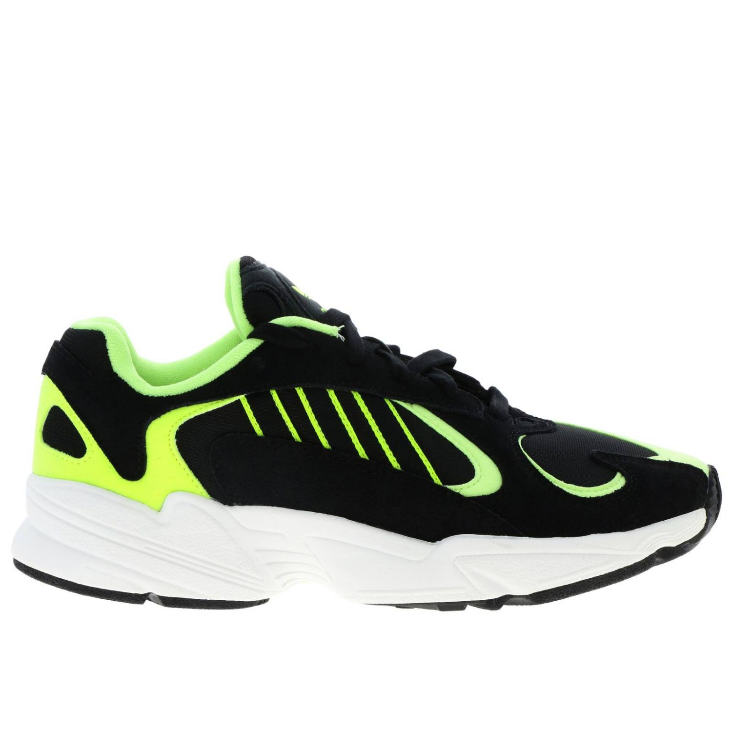 Sneakers Adidas Originals: Sneakers Yung-1 Adidas Originals in mesh fluo camoscio e rete con suola in gomma nero 1
