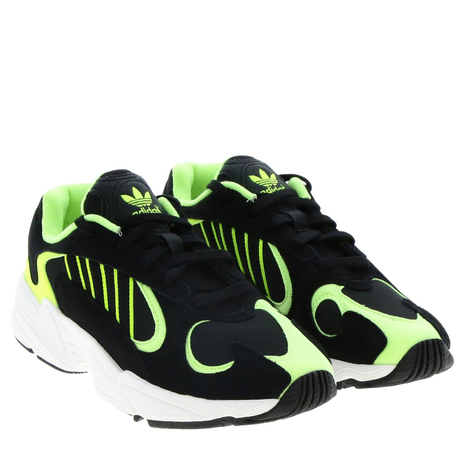 Sneakers Adidas Originals: Sneakers Yung-1 Adidas Originals in mesh fluo camoscio e rete con suola in gomma nero 2