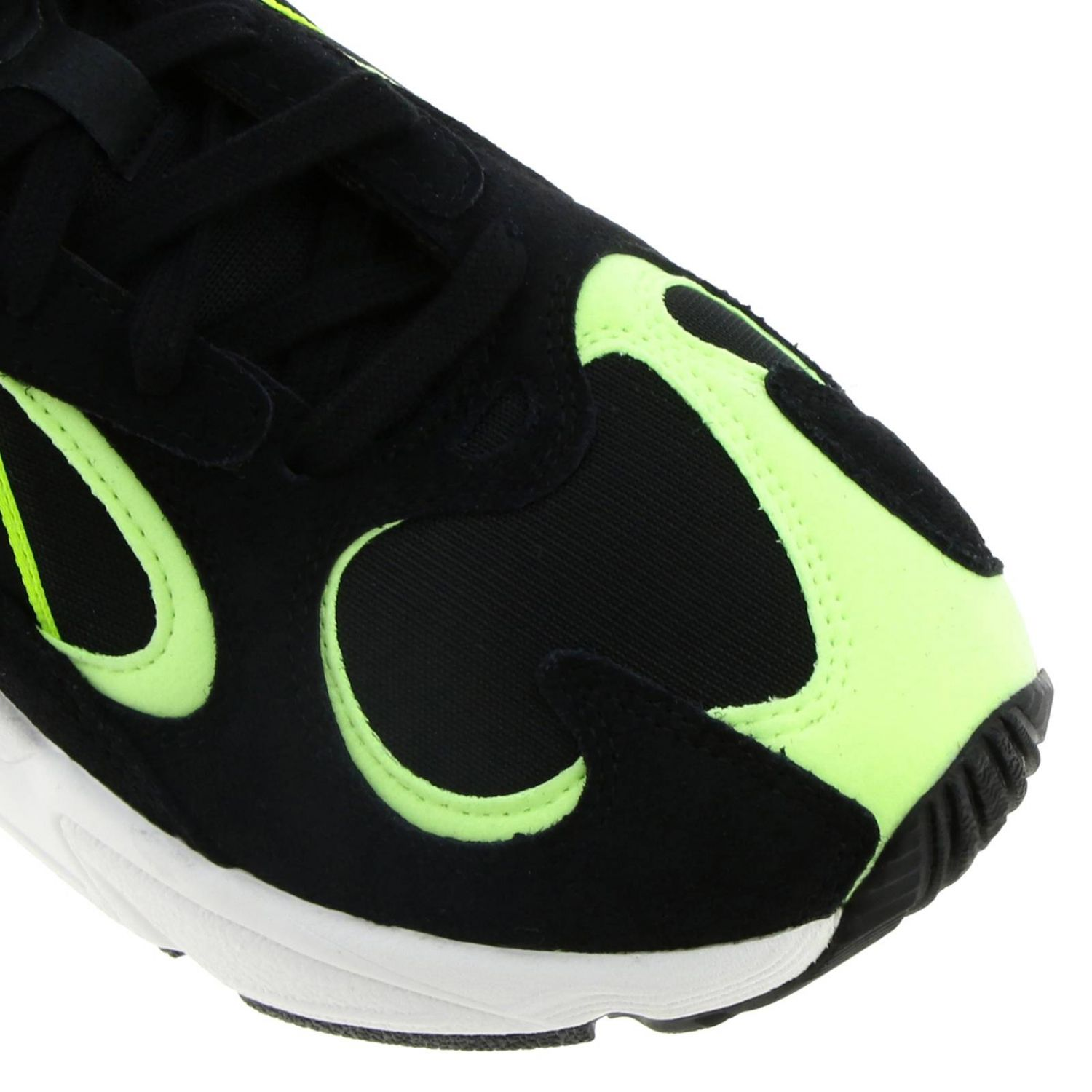 Sneakers Adidas Originals: Sneakers Yung-1 Adidas Originals in mesh fluo camoscio e rete con suola in gomma nero 3