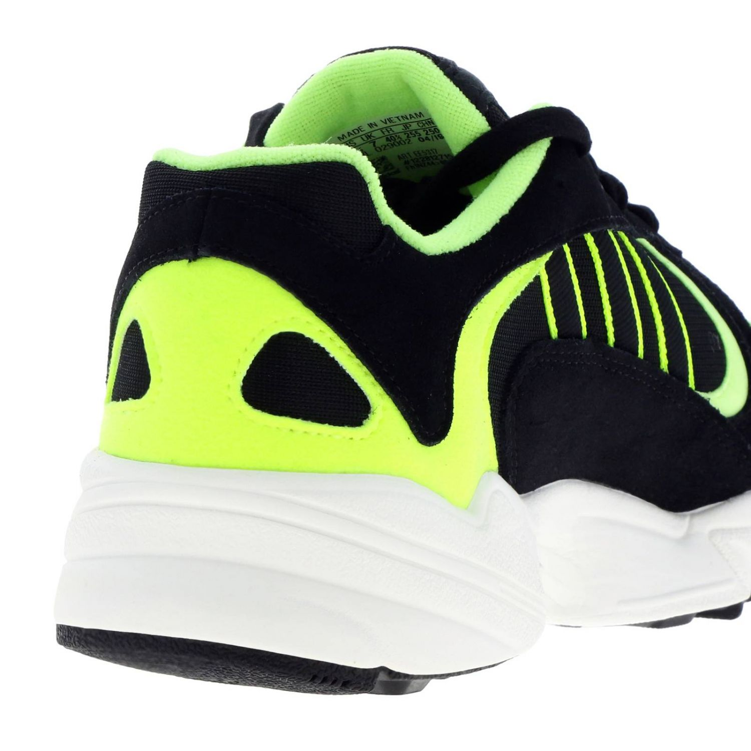 Sneakers Adidas Originals: Sneakers Yung-1 Adidas Originals in mesh fluo camoscio e rete con suola in gomma nero 4