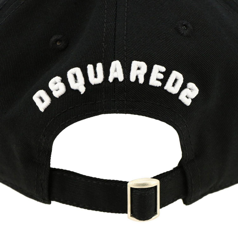 Gorra de béisbol Dsquared2 Junior con bordado maxi Icon negro 2