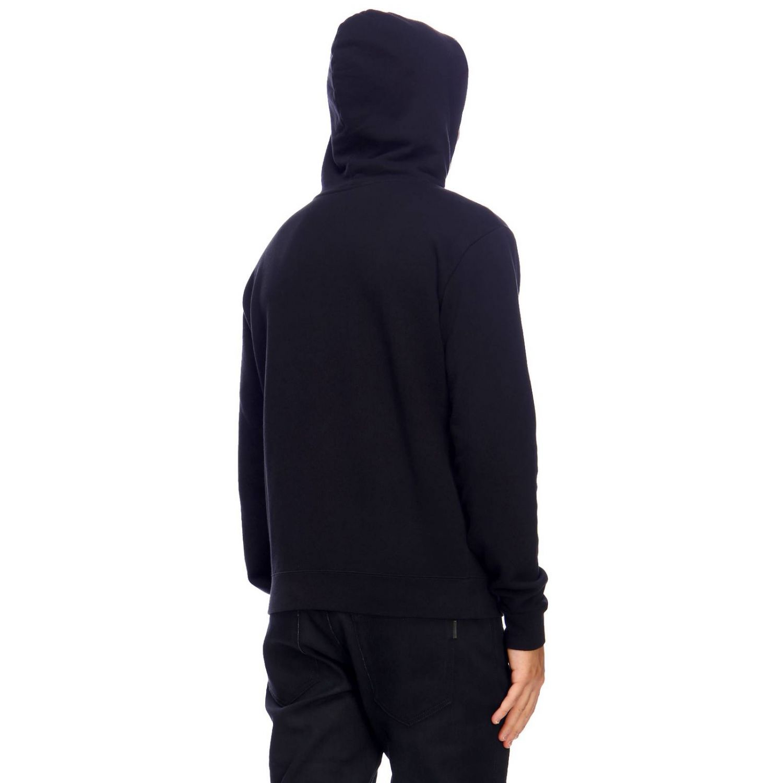 Basic sweatshirt with hood and Saint Laurent print with star black 3