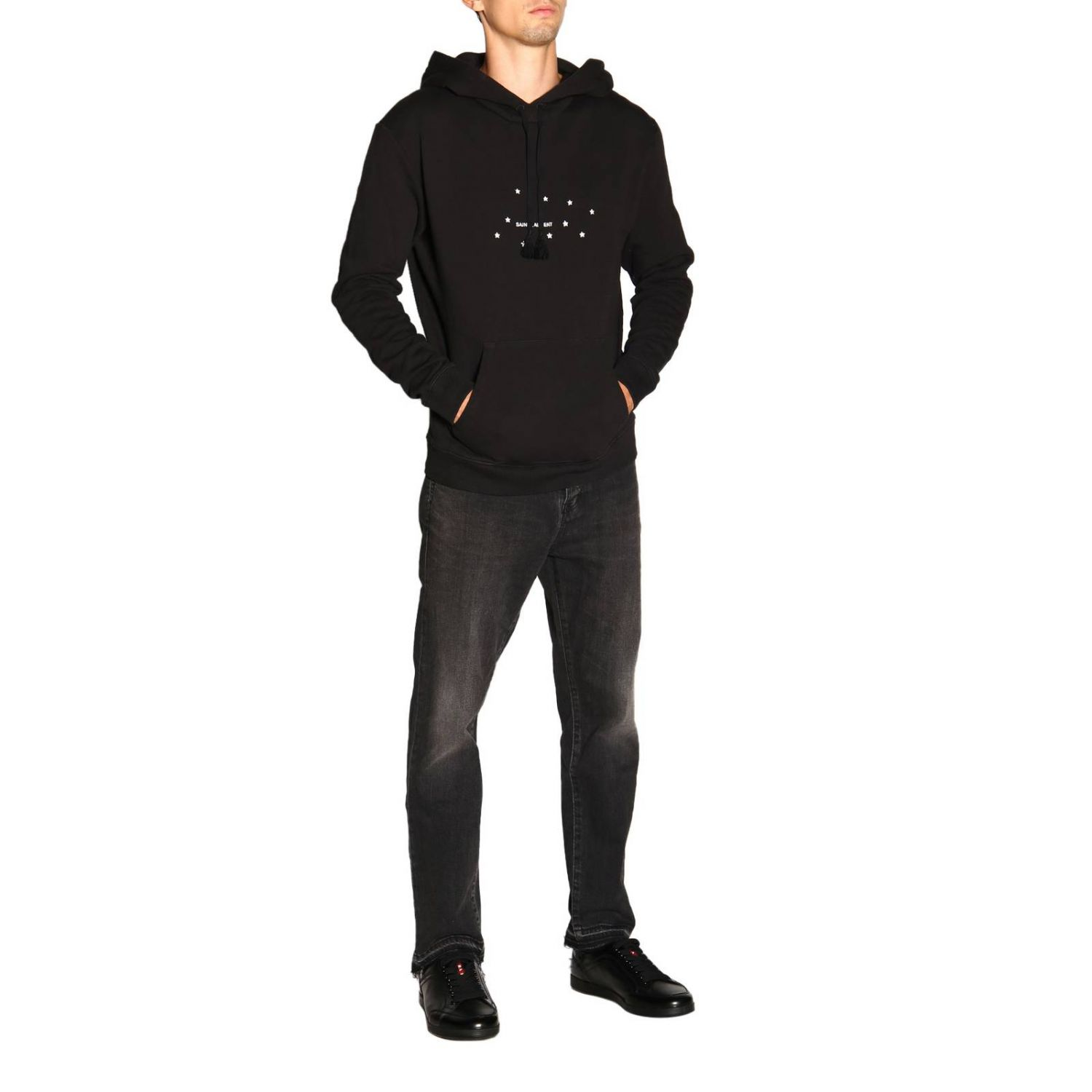 Pull homme Saint Laurent noir 2