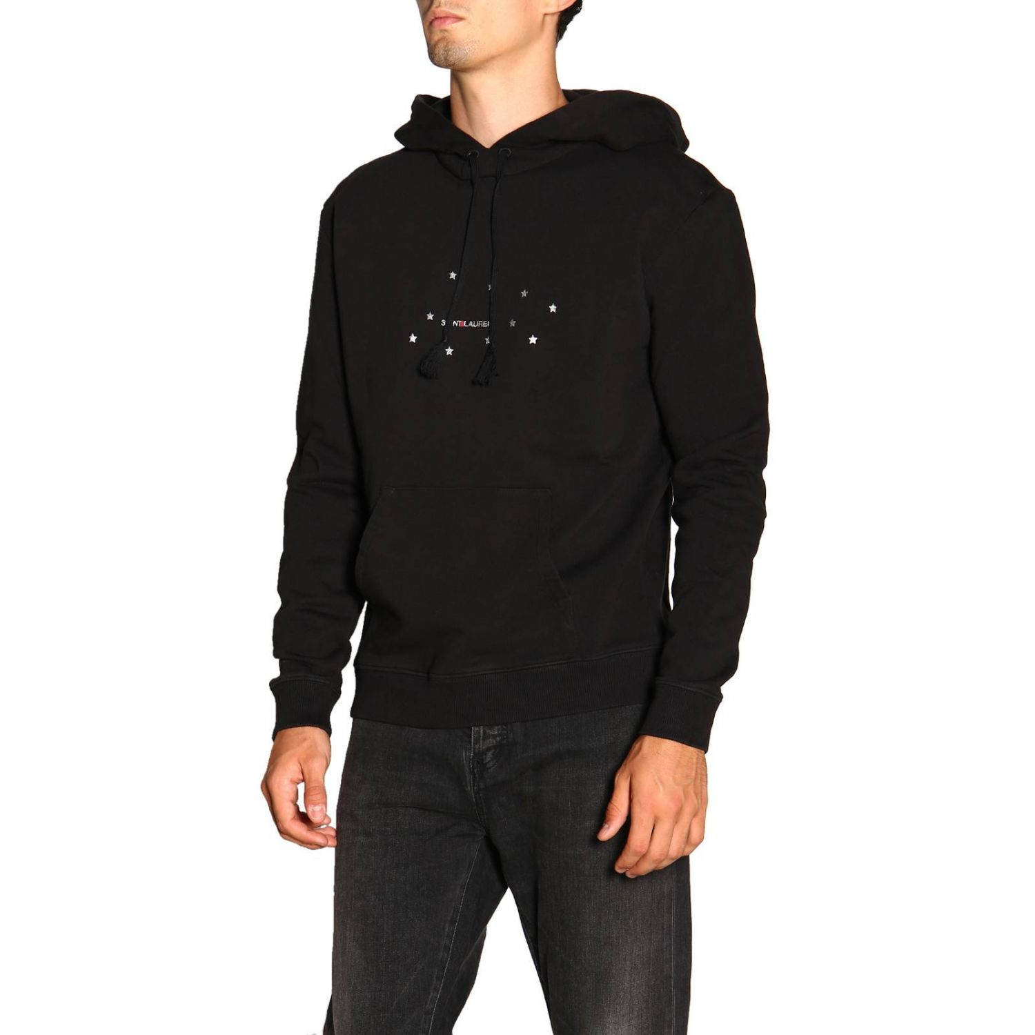 Pull homme Saint Laurent noir 4