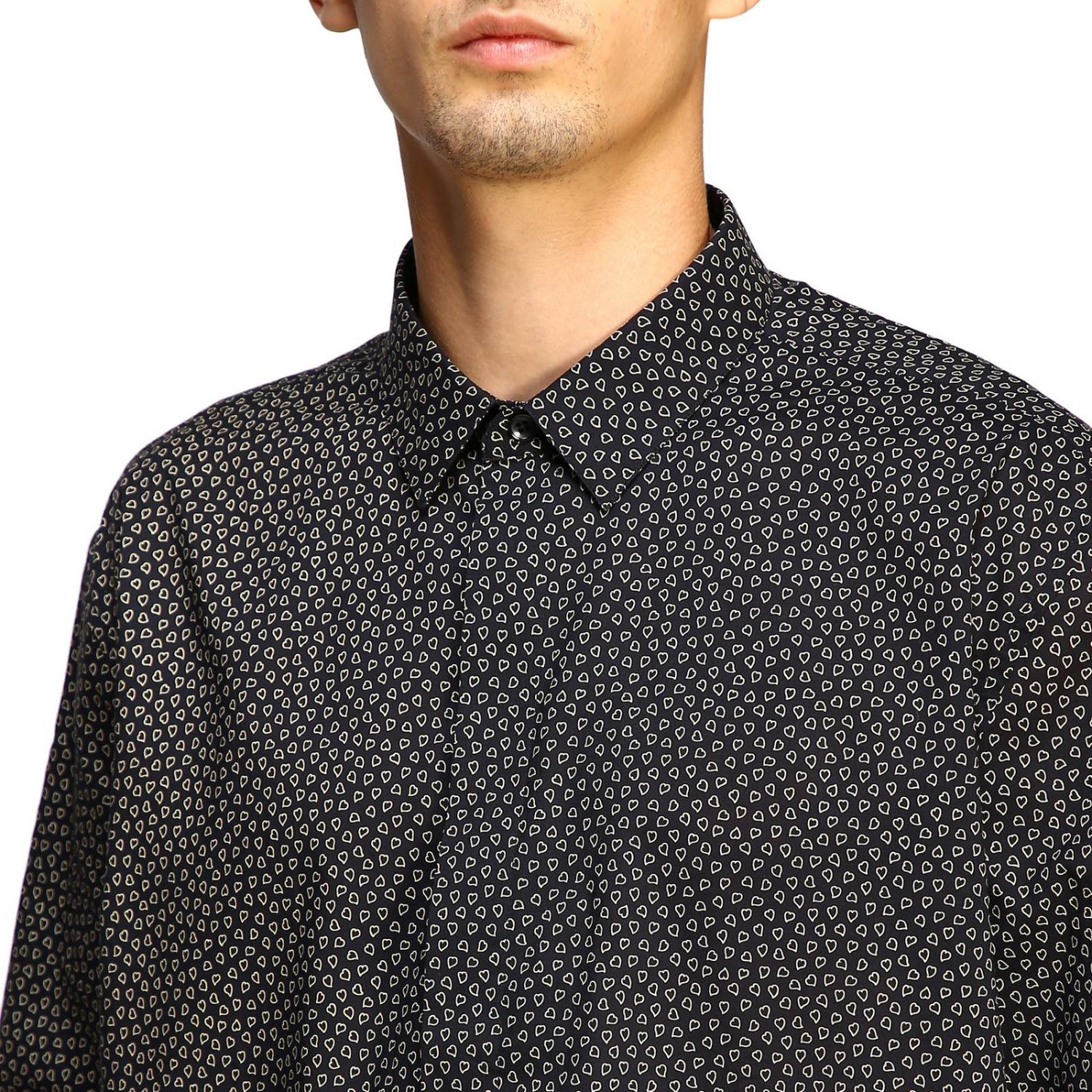 Shirt men Saint Laurent black 5