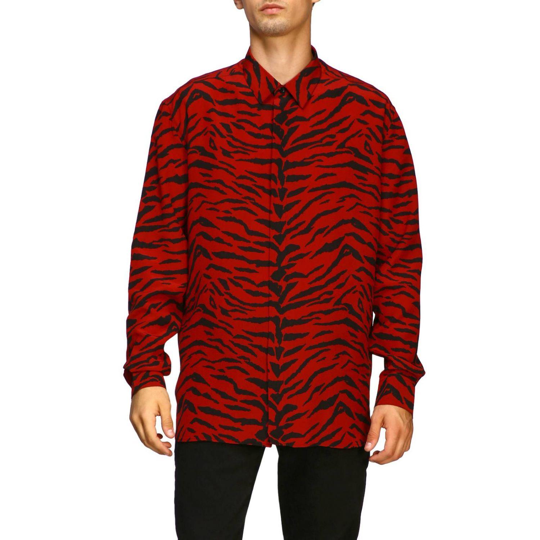 Shirt men Saint Laurent red 1