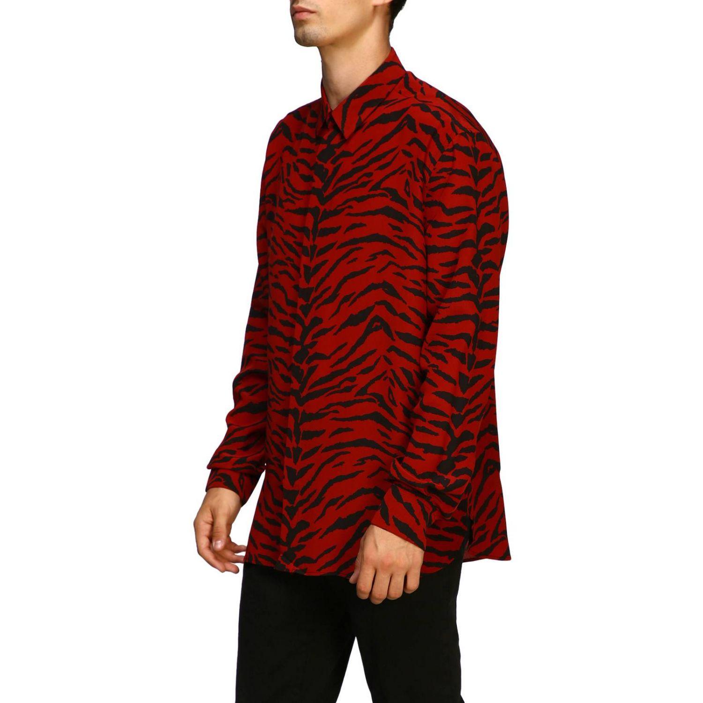 Shirt men Saint Laurent red 4