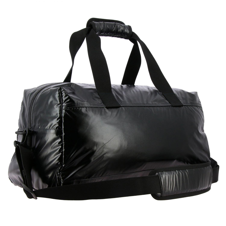 Sacca Saint Laurent extra large in nylon lucido con maxi logo nero 3