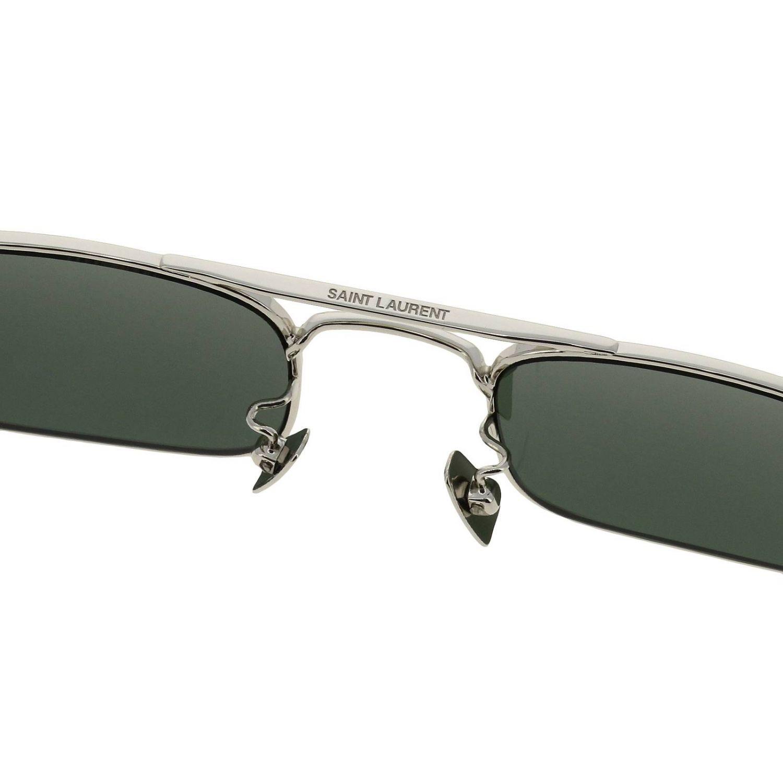 Occhiali Saint Laurent: Occhiali Sl331 Saint Laurent in metallo argento 3