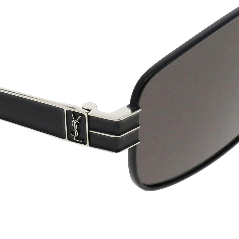 Saint Laurent Sonnenbrille aus Metall schwarz 3
