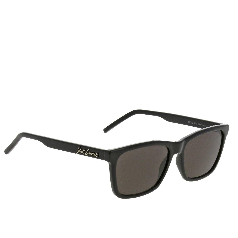 Saint Laurent Sl318 Acetat Sonnenbrille schwarz 1