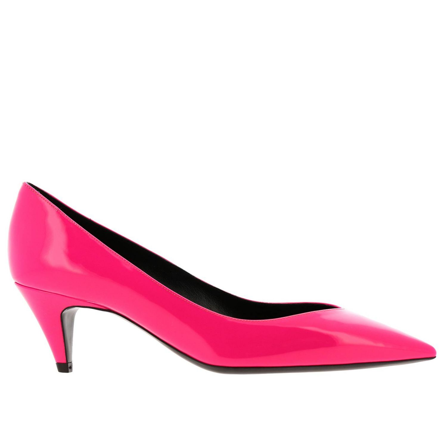 Charlotte Saint Laurent pointed toe in fluo paint fuchsia 1