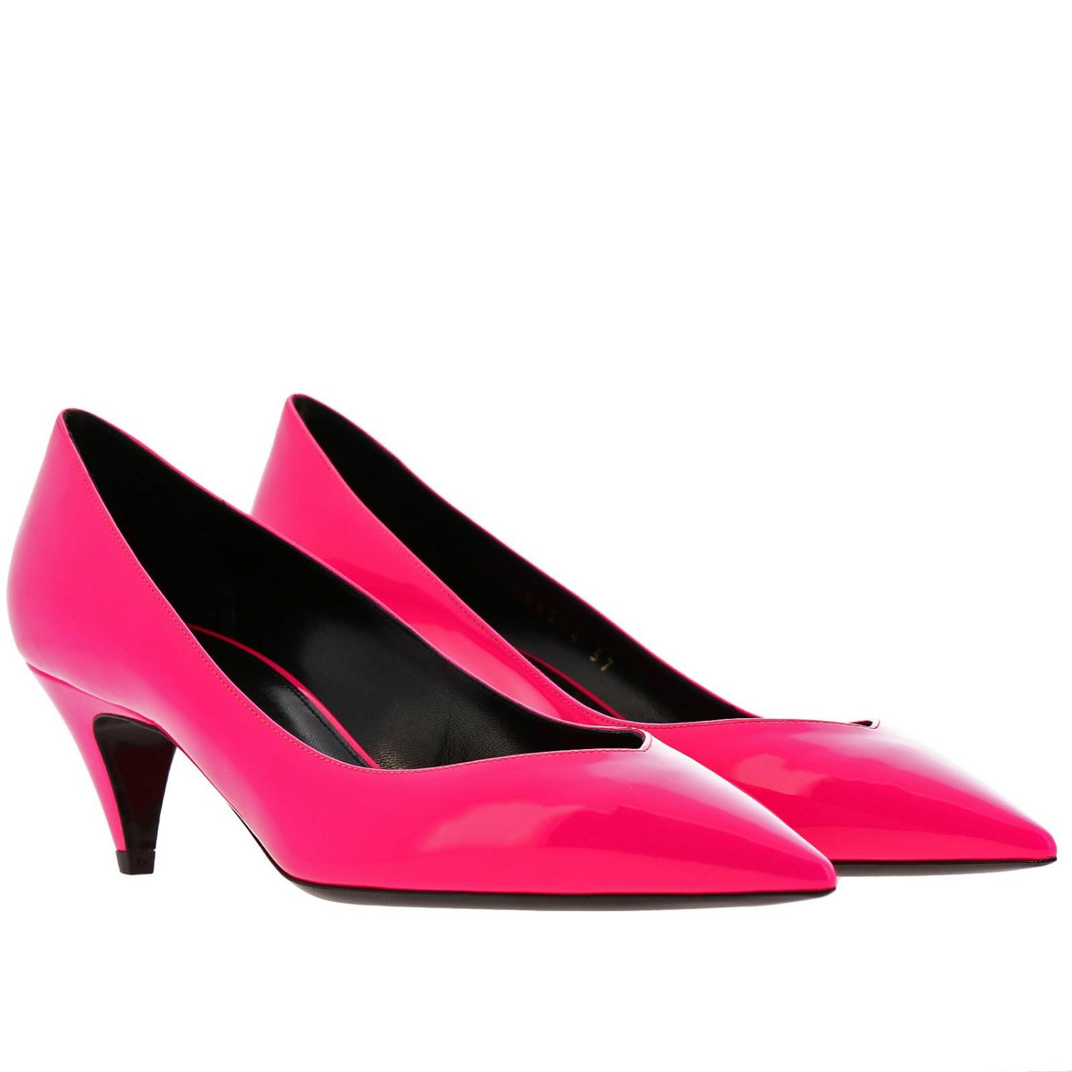 Charlotte Saint Laurent pointed toe in fluo paint fuchsia 2