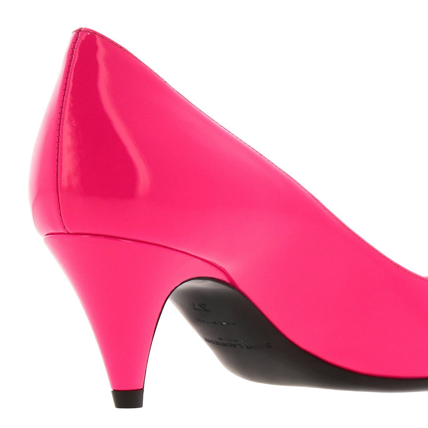 Charlotte Saint Laurent pointed toe in fluo paint fuchsia 4
